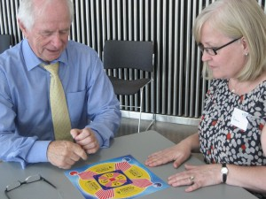 Val from the Maths Zone takes on Johnny Ball